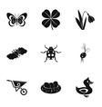 Kaleyard icons set simple style vector image vector image