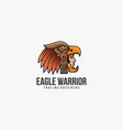 logo warrior with eagle head line art style vector image