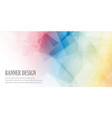 low poly banner design vector image vector image