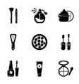 makeover icons set simple style vector image vector image