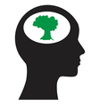 Man and tree vector image
