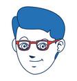 man character blue hair avatar image vector image vector image