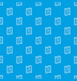 medical recipe pattern seamless blue vector image vector image