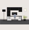 modern composite desk design vector image vector image