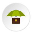 money box icon circle vector image vector image