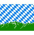 mountains with flag of Bavaria vector image vector image