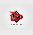 movie play letter e logo design concept template vector image vector image