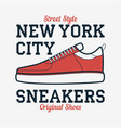 New york sneakers - typography for design clothes