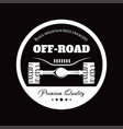 off-road car adventure club icon vector image vector image