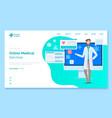 online medical service concept landing web page vector image vector image