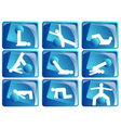 pilates icon set vector image vector image