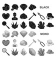 precious minerals black icons in set collection vector image