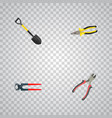 realistic tongs spade forceps and other vector image vector image