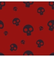 Red Small Skull Pattern vector image vector image