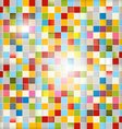 Retro Abstract Background - Colorful Squares vector image vector image