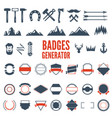 retro emblem generator is set of icons badges vector image