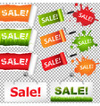 sale elements set vector image