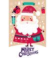 Santa Claus Christmas banner vector image vector image