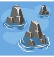 Sea rock island vector image