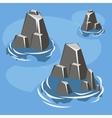 Sea rock island vector image vector image