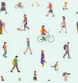 seamless pattern background group people vector image