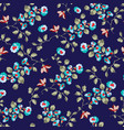 seamless pattern design with little forget me not vector image vector image