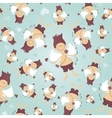 Seamless pattern with Cupid vector image vector image