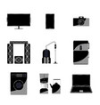 set of icons of home appliances and electronics vector image