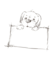 sketch of a dog vector image vector image