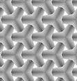 Slim gray halftone striped tetrapods vector image vector image