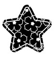 star tag japanese flower sakura culture vector image vector image