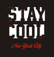stay cool nyc vector image vector image