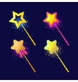 The magical power of a magic wand vector image