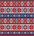 traditional knitting pattern for ugly sweater vector image vector image