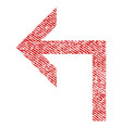 turn left fabric textured icon vector image