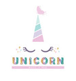 unicorn cute catroon character for birthday baby vector image