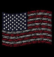 waving american flag stylized composition of vector image vector image