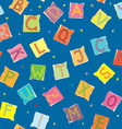 Funny alphabet seamless pattern vector image
