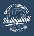 volleyball typography for t-shirt print varsity vector image