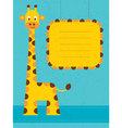 giraffe card vector image