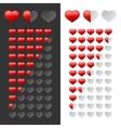 Rating Hearts Set vector image