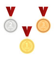 champion gold silver and bronze vector image