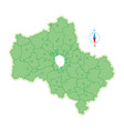 map of moscow region vector image