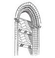 abat-vent windbreaks vintage engraving vector image