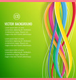 abstract bright geometric template vector image