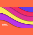 abstract colorful layers paper cut shapes bright vector image vector image