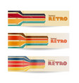 abstract retro banners set vector image vector image