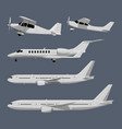 airplanes in cartoon style vector image vector image