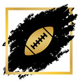 american simple football ball golden icon vector image