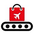 Baggage Conveyor Flat Icon vector image